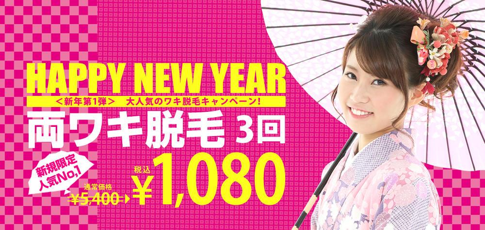新規限定/両ワキ脱毛3回1,080円
