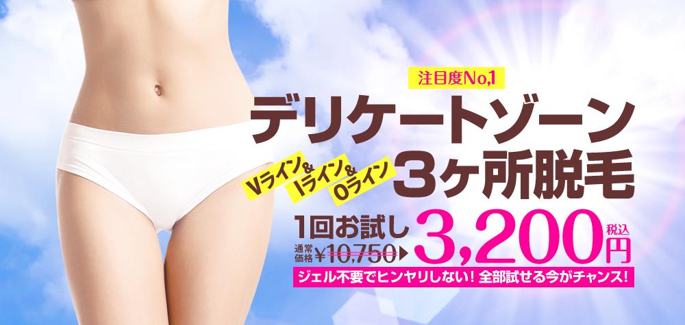 新規限定/VIO脱 3200円